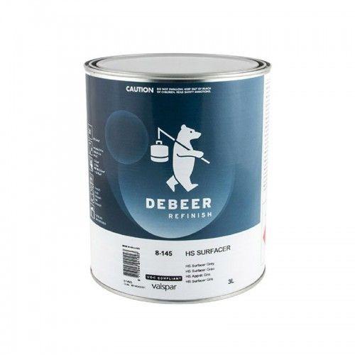 HS SURFACER WHITE DeBeer - 1 Lakiery samochodowe Debeer, Detailing Koch Chemie Środki dla myjni samochodowych